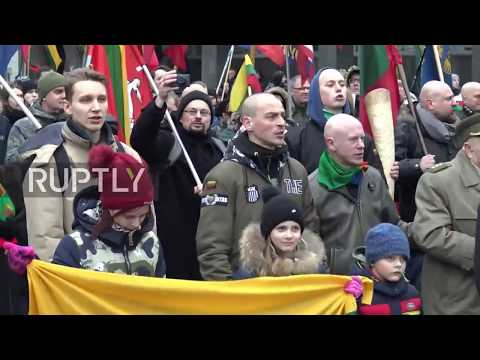 Lithuania: National patriotic organisations hold rally in Vilnius