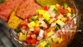 Mango & Peach Salsa Recipe (homemade)
