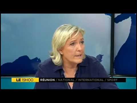Marine Le Pen, invitée du Journal de Réunion 1ère