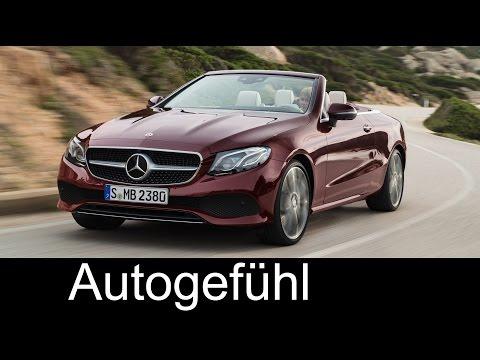 Mercedes E-Class Cabrio / Convertible Preview new neu 2017/2018 - Autogefühl