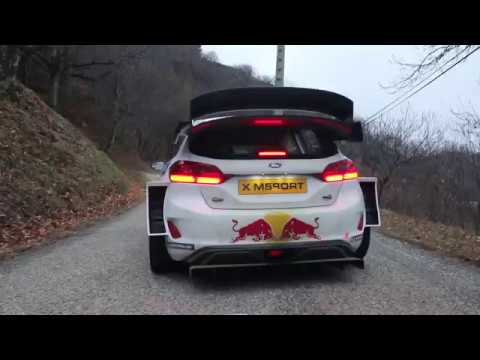 ogier testing the msport ford fiesta wrc 2018 amazing launch control youtube. Black Bedroom Furniture Sets. Home Design Ideas