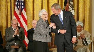 President Bush Presents Harper Lee with Presidential Medal of Freedom in 2007