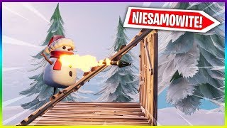 SHOOTING and BUILDING AS a SNOWMAN-GLITCH (Fortnite Battle Royale)