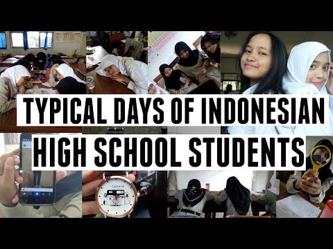 Typical Days of Indonesian High School Students