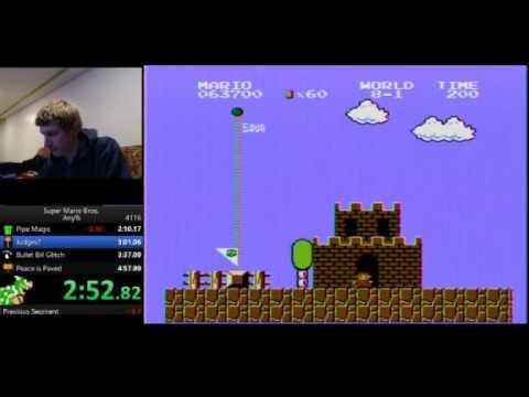 Super Mario Bros. Speedrun - 4:57.69 (IT'S TOO SLOW!!!) - Super Mario Bros. Speedrun - 4:57.69 (IT'S TOO SLOW!!!)