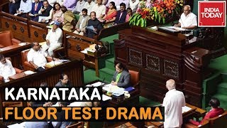 Karnataka Floor Test Drama : Congress-JDS MLAs Raise 'Save Constitution' Slogans thumbnail