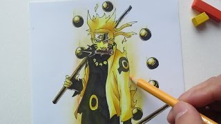 Drawing Naruto Sage of Six Paths 六道仙人モード