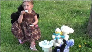 How To Make A Recycled Tea Party Table & Chairs For Maizin & Her Dolls