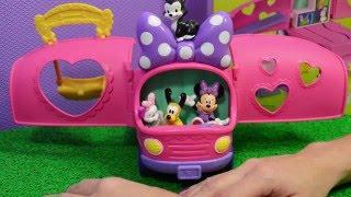 Minnie Portugues - Brinquedo Disney Van da Minnie e Seus Animais de Estimação - Turma Kids