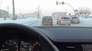 Driving in Russia 4K video | Car driving in winter