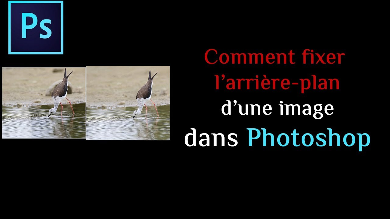 Comment Fixer L Arriere Plan D Une Image Dans Photoshop Youtube