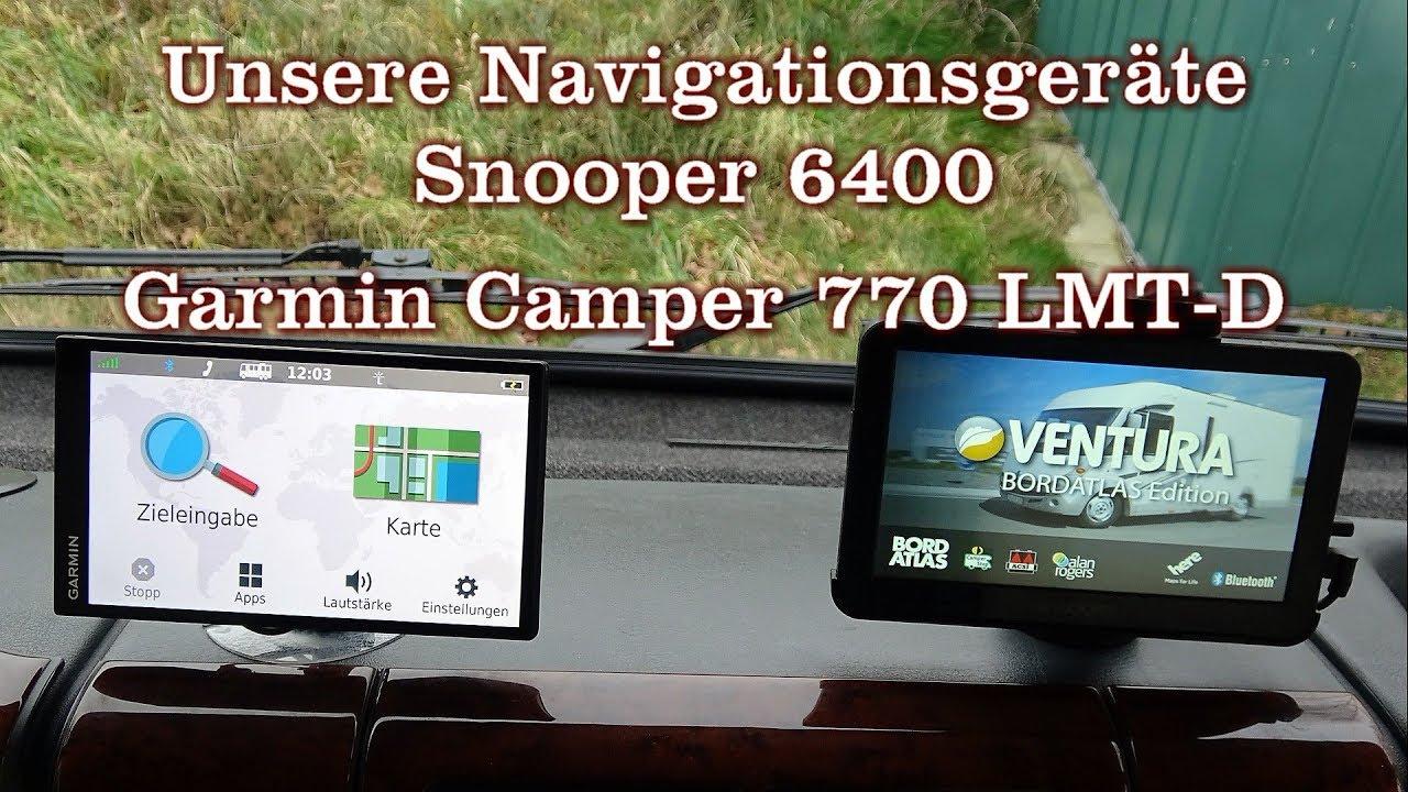 unsere navigationsger te garmin camper 770 und snooper. Black Bedroom Furniture Sets. Home Design Ideas