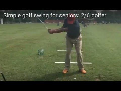 Simple golf swing for seniors: 2/6 golfer
