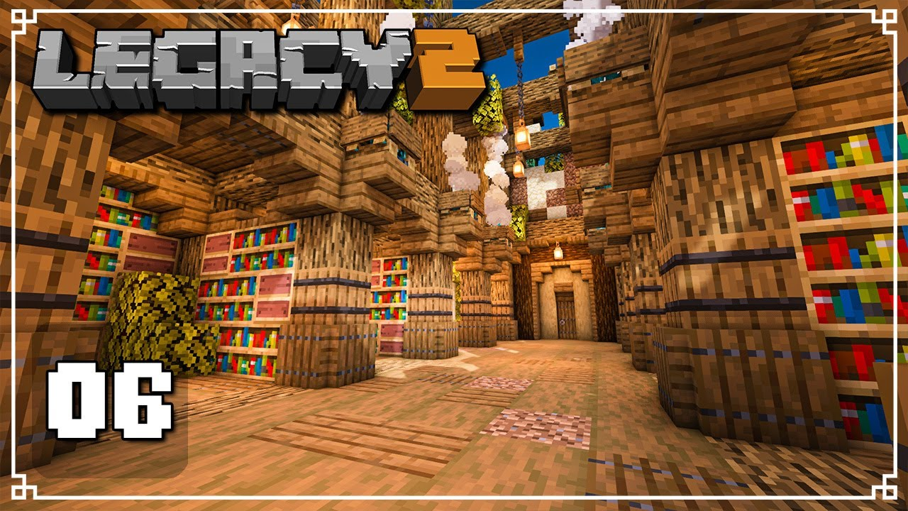 WE FOUND A MYSTERIOUS UNDERGROUND LIBRARY - Legacy SMP 2: Episode 5 (Minecraft 1.16 Multiplayer)