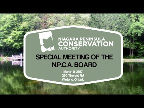NPCA Special Meeting of the Board - March 8, 2017