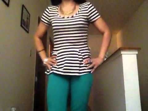Outfit blusa rayas! - YouTube