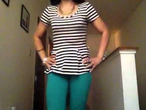 Outfit blusa rayas youtube - Rayas horizontales ...