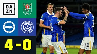 Jahanbakhsh knallt & Ex-Bundesliga Spieler glänzen: Brighton - Portsmouth 4:0   Carabao Cup   DAZN