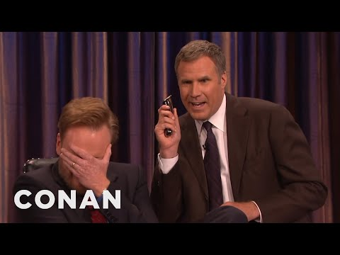 Will Ferrell And His Razor Come To Shave Conan's Beard   CONAN on TBS