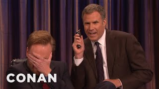 Will Ferrell And His Razor Come To Shave Conan's Beard  - CONAN on TBS thumbnail
