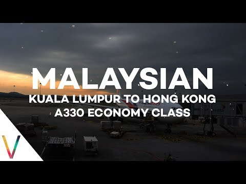 Malaysia Airlines Kuala Lumpur to Hong Kong A330 Economy Class Review