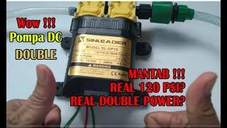 Wow Dobel Pompa Jadi satu Dowble Powernya? Review Test Pompa Sinleader 120PSI 7-9LPM