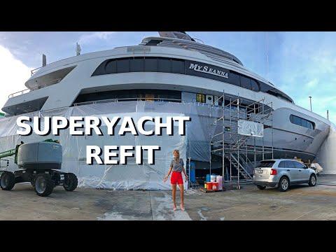 $26.5M DELTA MARINE SuperYacht MY SEANNA $4M REFIT Before & After / Boatyard below deck Yacht Tour