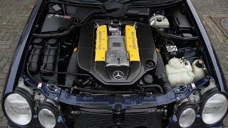 W210 E55 AMG Supercharged Kompressor - 100-200 km/h testdrives - insane sound