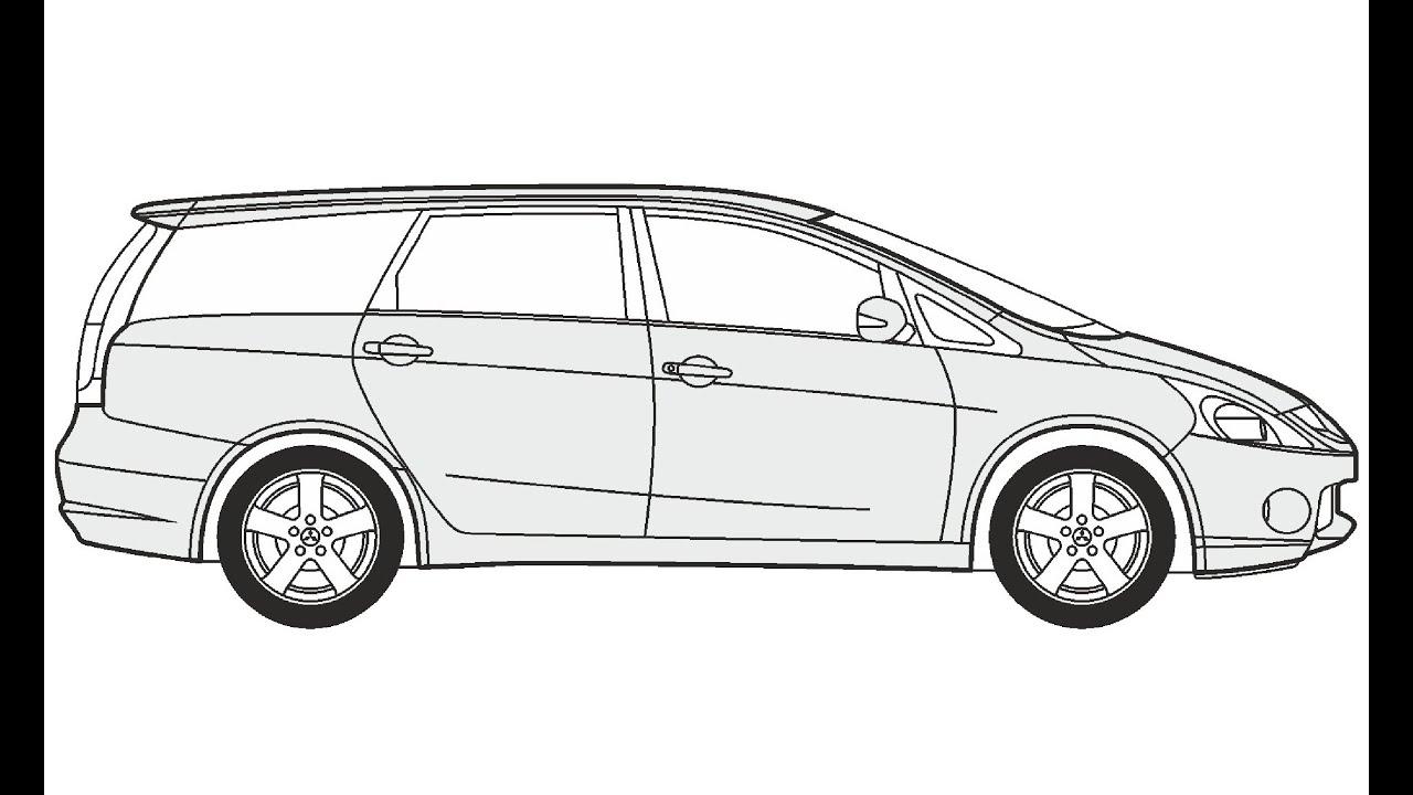 How to Draw a Mitsubishi Grandis / Как нарисовать