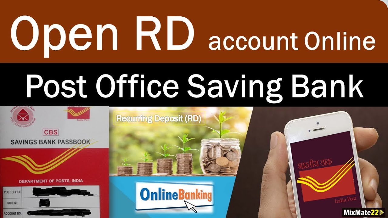 How to open Post office recurring deposit(RD) account online  POSB mobile  banking  India Post