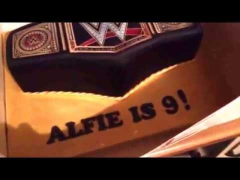 Alfies WWE birthday cake YouTube