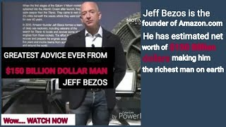 One of the greatest advice ever/Jeff Bezos/ Amazon.com founder