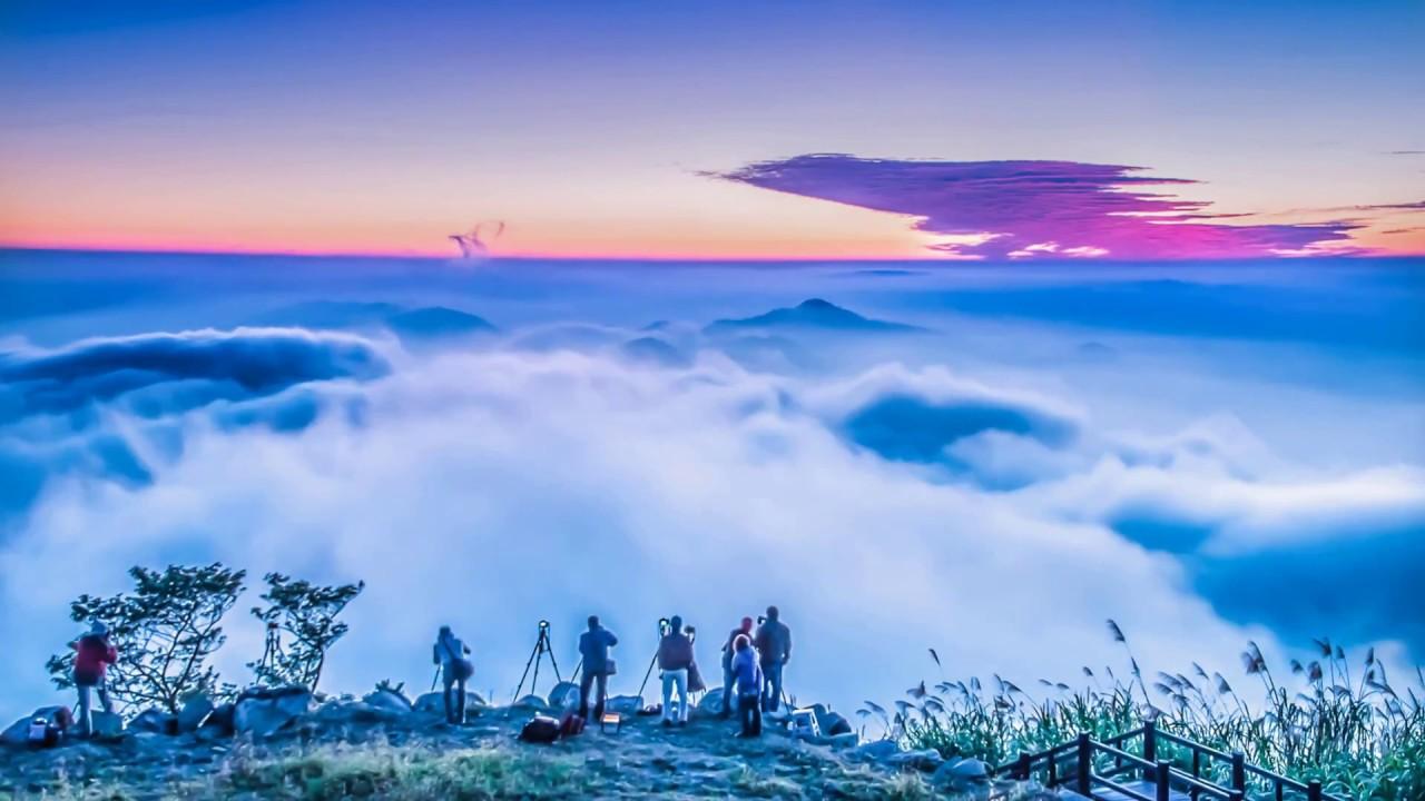 阿里山隙頂 夕陽雲海 攝影 : 悟空大師(莊家和) 音樂改版- 【小提琴】《錦鯉抄》 - YouTube