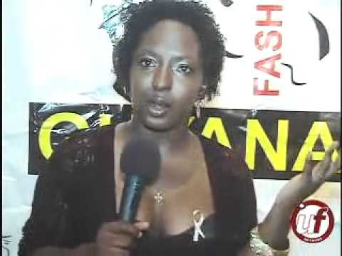 Natisha Johns prepares for Guyana Fashion Weekend