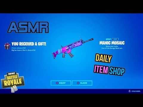 ASMR | Fortnite NEW Manic Mosaic Wrap Gift! Daily Item Shop Update 🎮🎧 Relaxing Whispering 😴💤