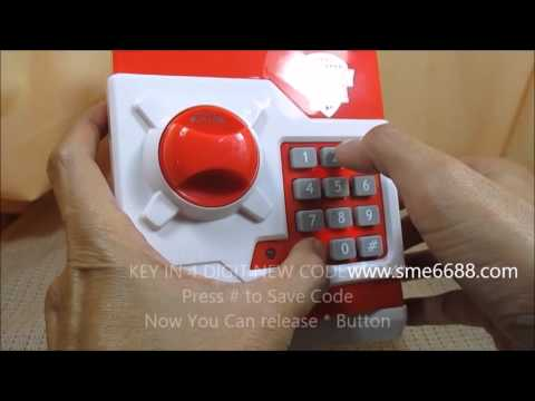 Educate and teach kids having interest how to start save money - Mini ATM Machine Coin Box