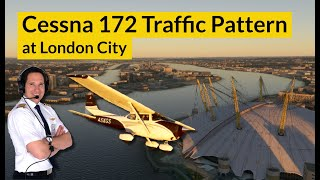 TRAFFIC PATTERN at London City airport with ALL CHECKLISTS! Explained by CAPTAIN JOE
