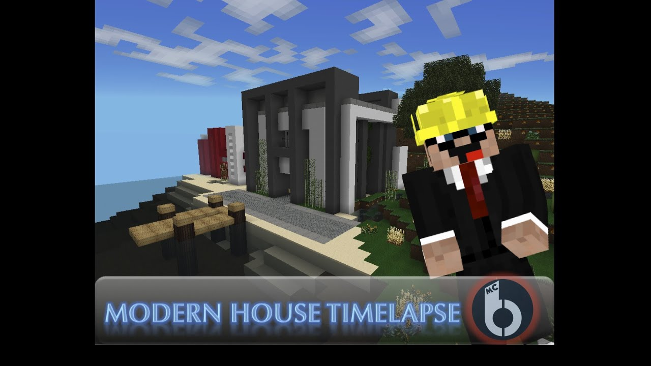Minecraft Pocked Edition Modern House Timelapse wLandy005 YouTube