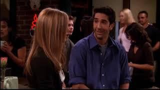 Телесериал «Друзья». Сцена Рейчел и Рос в кафе.