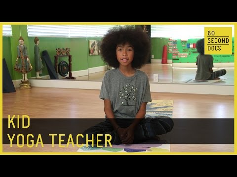 Kid Yoga Teacher   Tabay Atkins // 60 Second Docs