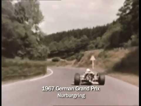 The mighty Nurburgring as it was once Jackie Stewart 1967 ON BOARD Lotus 49
