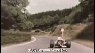 The mighty Nurburgring as it was once Jackie Stewart 1967 ON BOARD Lotus 49