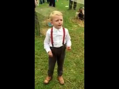 Cute kid singing The gambler by Kenny Rogers. ShaneyLee Pool