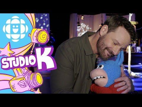 Gary the Unicorn Hugs Ryan Robbins  Hug Club  CBC Kids