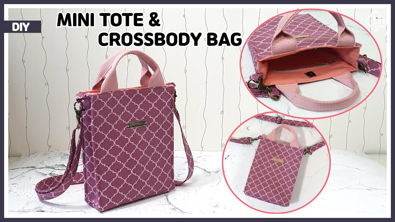 DIY Mini tote & Crossbody bag / Phone purse bag / sewing tutorial [Tendersmile Handmade]