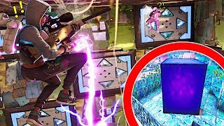 *NEW* GIANT PURPLE CUBE BOUNCE PAD ARENA MINI-GAME! | Fortnite Playground Mode