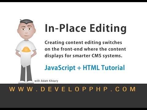 In Place Editing CMS Development HTML JavaScript Tutorial