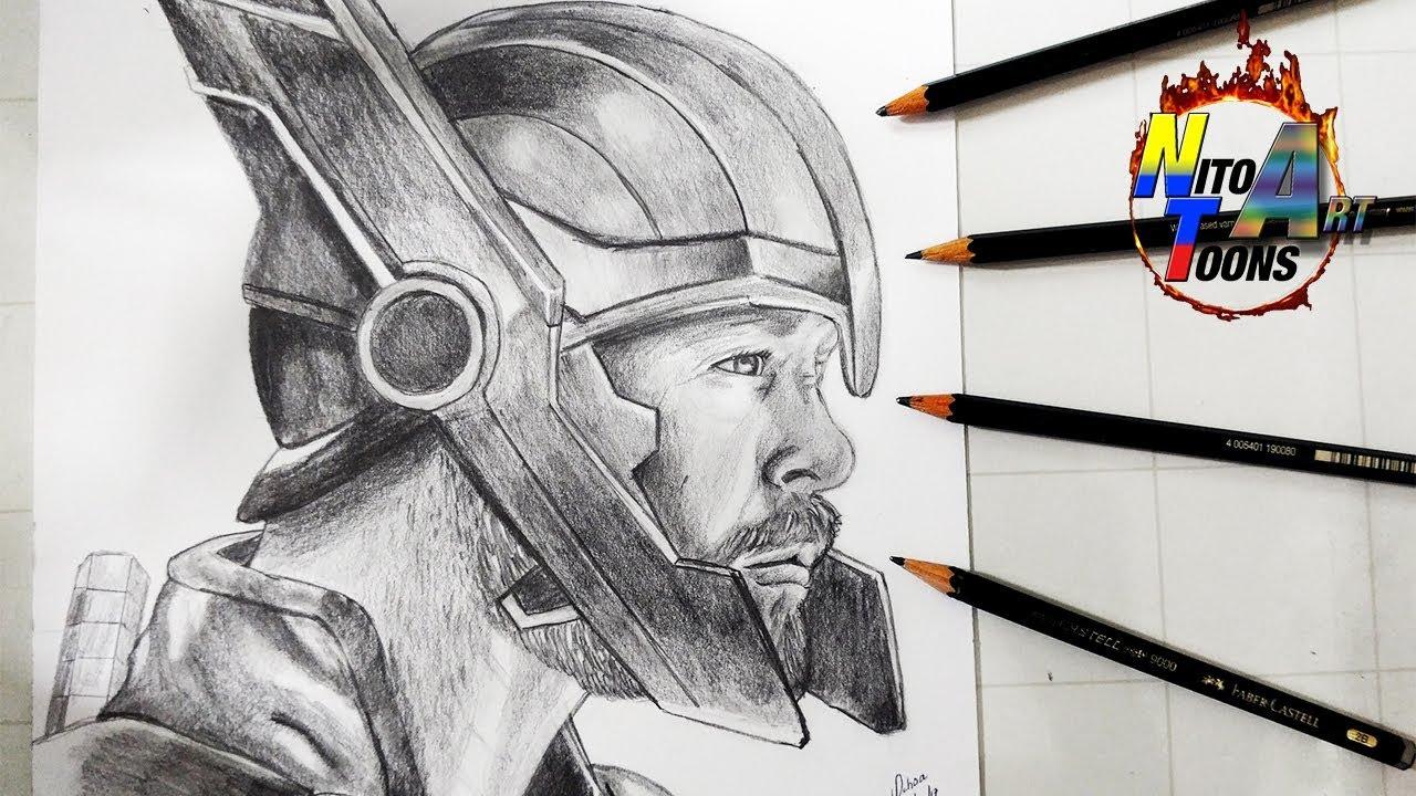 Dibujo De Thor Ragnarok Drawing Thor Ragnarok Nito Toons Youtube