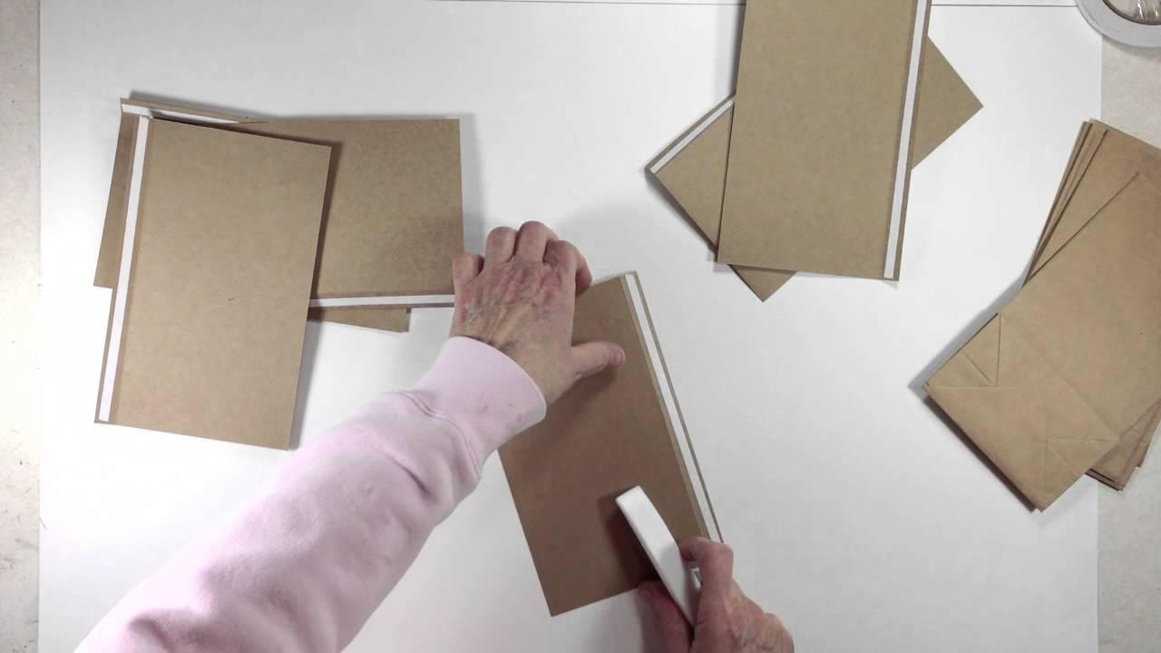 Paper bag building - Vertical Paper Bag Mini Album Series Part 1a Building Pages Youtube