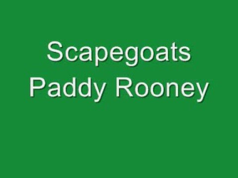 Scapegoats - Paddy Rooney